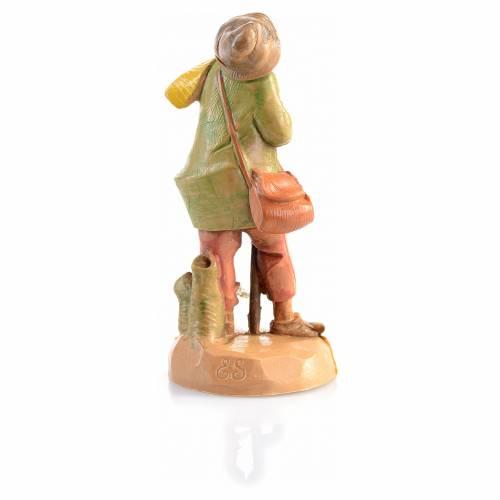 Berger avec écharpe crèche 6,5 cm Fontanini s2