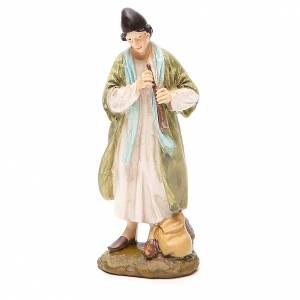 Berger avec flûte résine peinte 12 cm gamme économique Landi s1