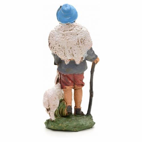 Berger avec mouton et canne, 10 cm s2
