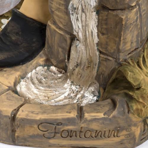 Berger avec seaux crèche Fontanini 125 cm résine s7