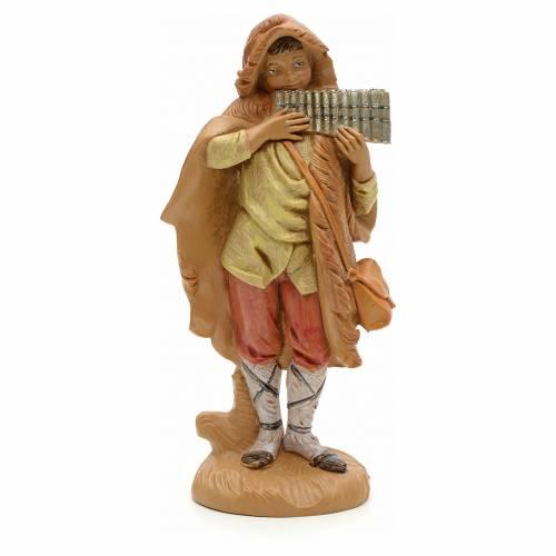 Berger et son harmonica crèche Fontanini 12 cm s1