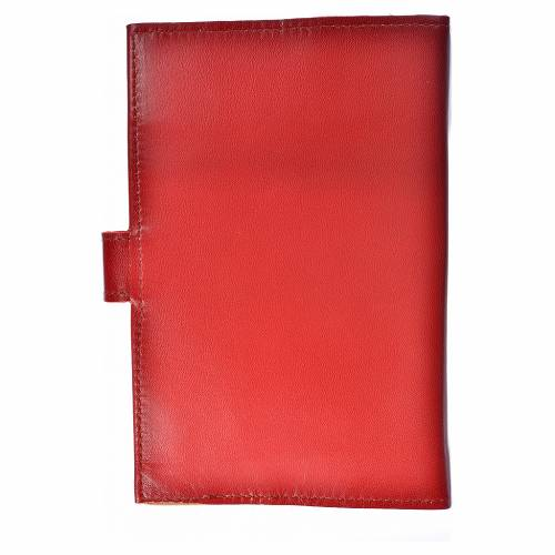 Bible cover reader edition, burgundy leather Holy Family s2