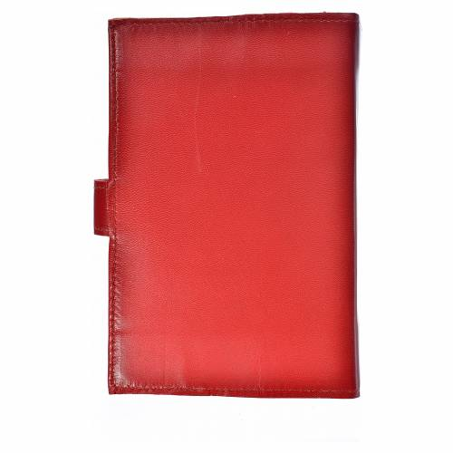 Bible cover reader edition, burgundy leather Our Lady of Kiko s2