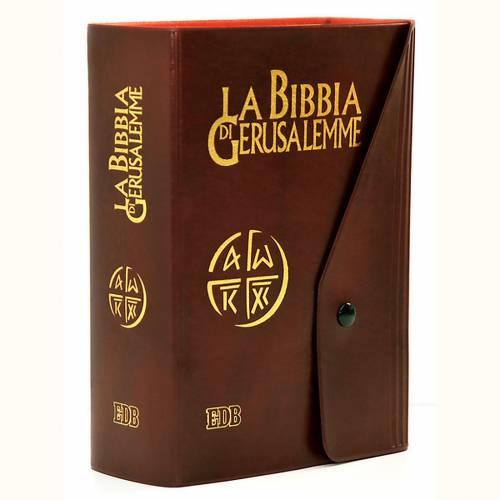 Bible Jérusalem, nouvelle trad., semi-cuir  bouton ITA s1