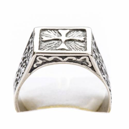 Bishop Ring, silver 800 with cross decoration s5