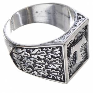 Bishop's ring, burnished 800 silver with Tau cross s2