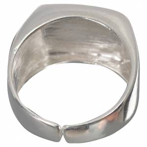 Bishop's ring in 800 silver, polished, with lamb s3