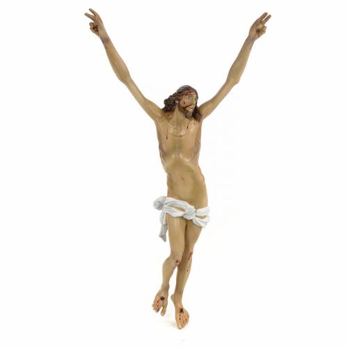 Body of Christ, Agony, 35cm in wood paste with elegant decoratio s1