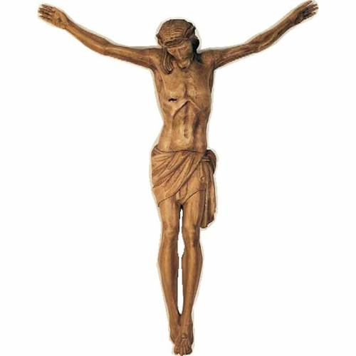 Body of Christ in painted wood 100-90cm s1