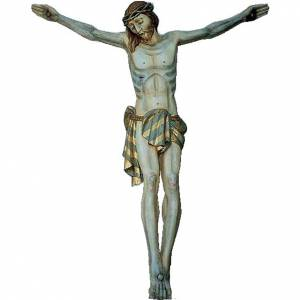 Body of Christ in painted wood 120cm s1