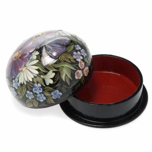 Boite laquée russe 'fleurs colorés' Palekh s4