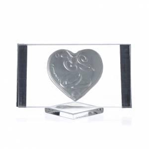 Bomboniera Anniversario 25 anni Quadro argento cm 4,5x7 s2