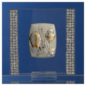 Bomboniera Argento e strass 7x7 cm s2
