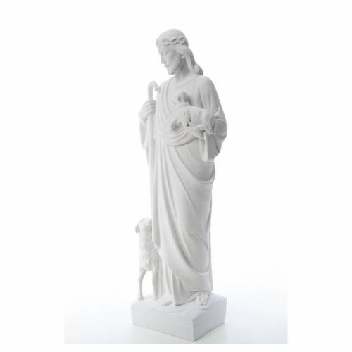 Bon Pasteur avec brebis marbre reconstitué s2
