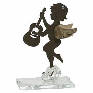 Bonbonnières: Bonbonnière ange guitare ailes bois