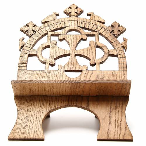 Book stand hand carved by the Bethlehem monks in white ash wood s1