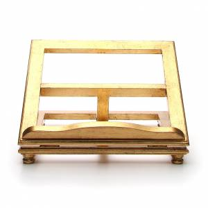 Book stands: Book stand made in wood with gold leaf