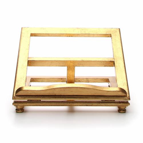 Book stand made in wood with gold leaf s1