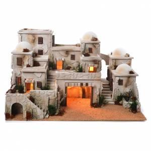 Capanne Presepe e Grotte: Borgo arabo completo con capanna 42x70x50 cm