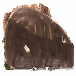 Borgo per presepe napoletano 75x80x40 cm con porte in legno s4