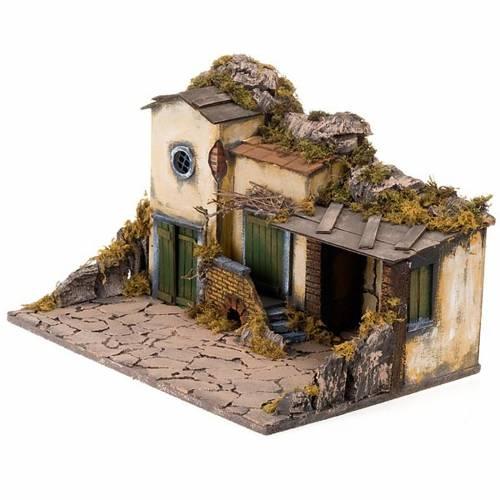 Borgo presepe con stalla 50X32X33 8