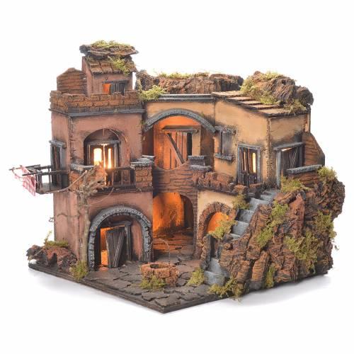 Borgo presepe napoletano stile 700 con pozzo 32x35x30 s5