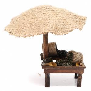 Cibo in miniatura presepe: Bottega presepe con ombrello olive 16x10x12 cm