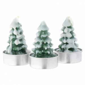 Bougie Noël sapin avec neige set 3 pcs s1