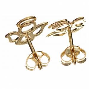 Boules d'oreilles ange stylisé or 750/00 - 1,10gr s2