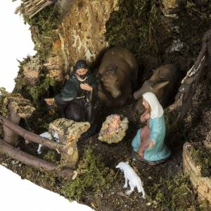 Bourg crèche Noel avec grotte 28x38x28 cm s3