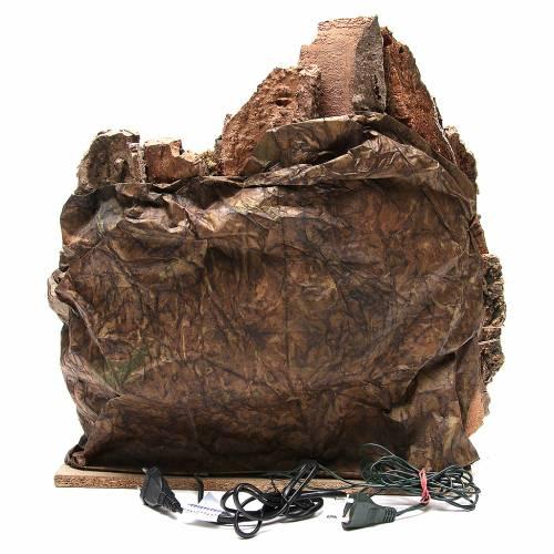 Bourgade avec grotte et fontaine crèche Naples 38x45x35 cm s4