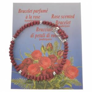 Bracciali  a molla rosario: Bracciale Decina legno profumato 4 mm