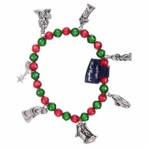 Bracciale di Natale elastico in cristallo e libretto preghiere natalizie ITA s1