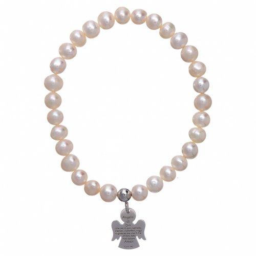 Bracciale elastico con perle tonde 6 mm AMEN Arg 925 s1