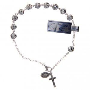 Bracciale in argento 925 medaglia Miracolosa 6 mm s1