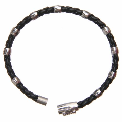 Bracciale MATER nero croce e decina argento 925 s2