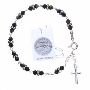 Bracciale rosario cristallo Swarovski conico nero s2