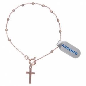 Bracciale rosario in argento 925 rosato s2