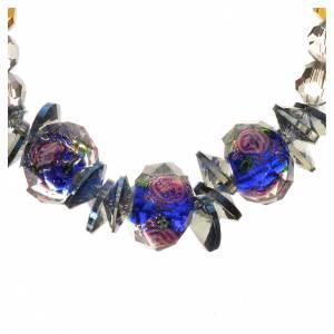 Bracciale Trinità elastico Cristallo Blu s2