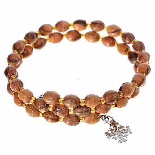 Bracelet avec ressort, bois d'olivier s1