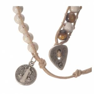 Bracelet chapelet pierre fossile 6mm s3