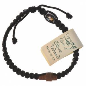 Bracelet corde Medjugorje croix olivier s7