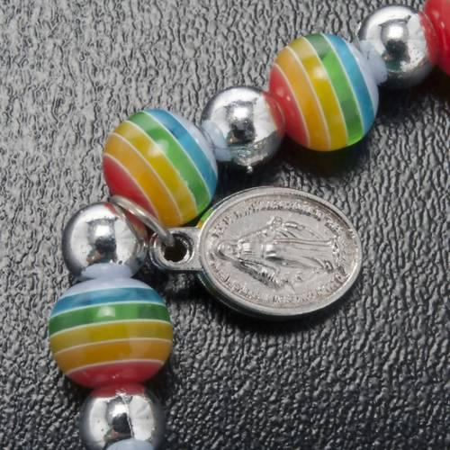 Bracelet couleurs de la paix médaille Miraculeuse s3