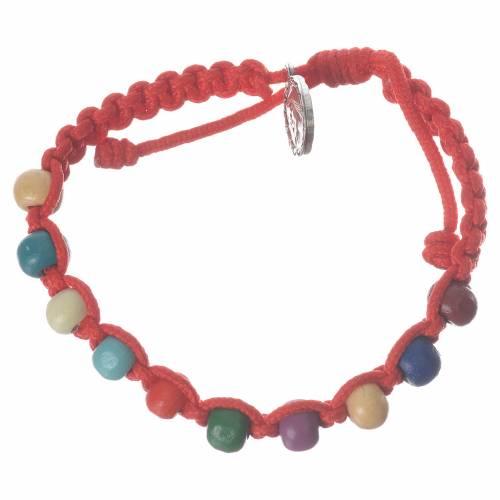 Bracelet dizainier enfant Medjugorje rouge s1