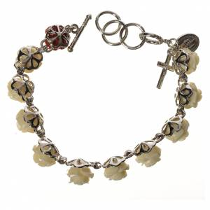 Bracelet dizainier roses blanc s2