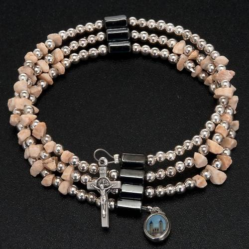 Bracelet et chapelet Medjugorje perle et pierres s4