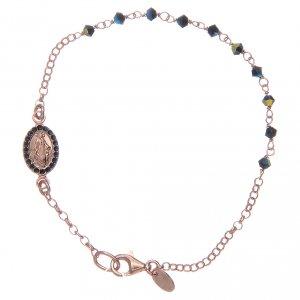 Silver bracelets: Bracelet in 925 sterling silver blue with Swarovski