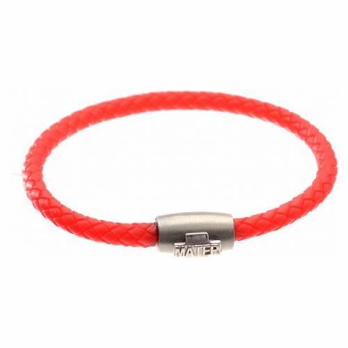 Bracelet MATER rouge croix argent 925 s1