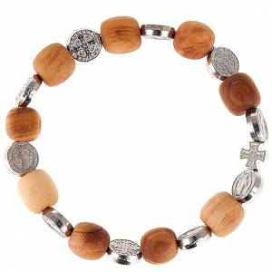 Bracelets, dizainiers: Bracelet médaille Saint Benoit