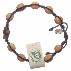 Bracelets, dizainiers: Bracelet Medjugorje olivier corde marron